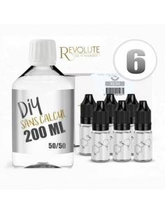 Pack DIY 50/50 200ml 6mg Revolute
