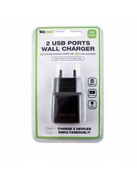 Chargeur Mural 2 Ports USB 2.4A de la marque Tekmee