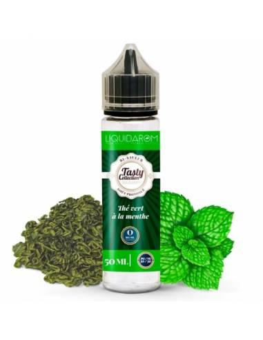 Eliquide Thé vert à la menthe 50ml, gamme Tasty Collection
