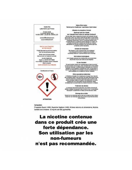 Cartouches Koddo Pod x3 Ice Mint par Le French Liquide