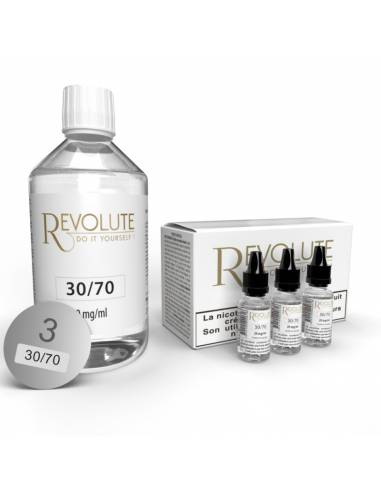 Pack DIY 30/70 200ml 3mg par le fabricant Revolute