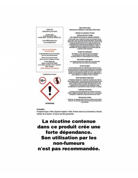 Cartouches Koddo Pod x3 Souffle du Dragon Le French Liquide