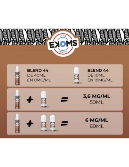 calcul booster nicotine blend 44 ekoms
