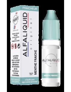 Eliquide Menthe fraîche 10ml de marque française Alfaliquid