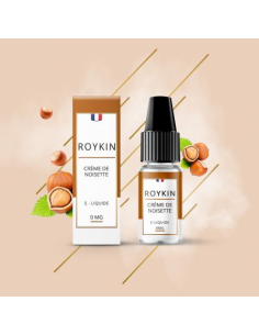 Eliquide Crème de Noisette 10ml de marque française Roykin