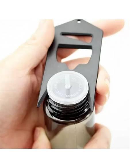 Décapsuleur de bouteilles et flacon de e-liquides