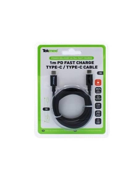 Câble USB Type-C vers USB Type-C 1m 3A de la marque Tekmee