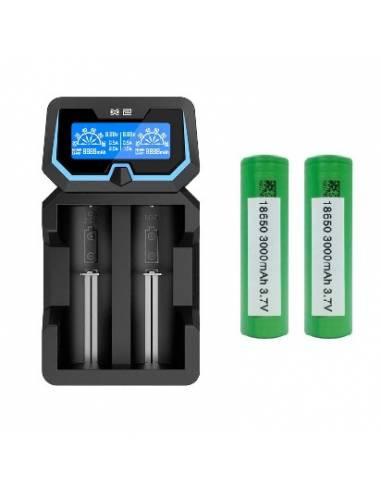 Pack Chargeur X2 Xtar + 2 accus VTC6 de la marque Sony